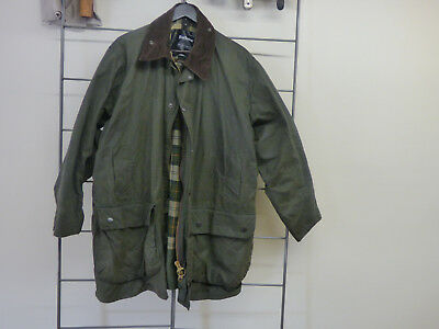 Barbour A330 Border Jacket  Waxed Cotton Mens Size 46