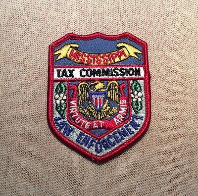 MS Mississippi State Tax Commission Law Enforcement Patch (Hat Size)