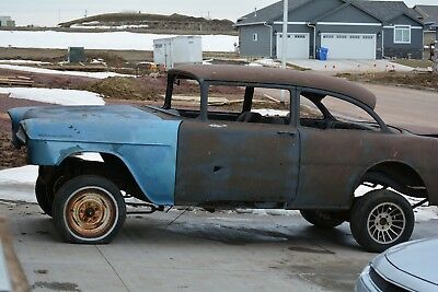 1955 Chevrolet Bel Air/150/210  1955 chevy 2 door tri five project car with title