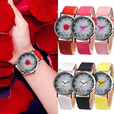 NEW Fashion Womens Casual Watch Ladies Leather Band Analog Quartz Wrist Watches