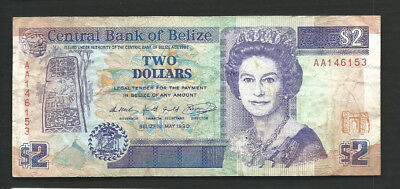 Belize 1990 2 Dollars P 52a Circulated