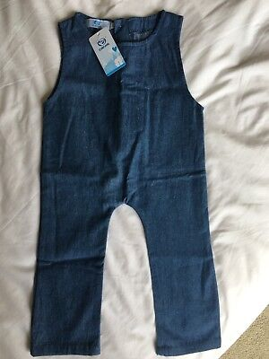 Gorgeous Canis Denim Overalls Size 1 Girls Or Boys BNWT