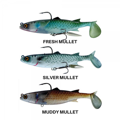 River 2 Sea Chasebaits Poddy Mullet 125mm Lures  BRAND NEW @ Ottos Tackle World