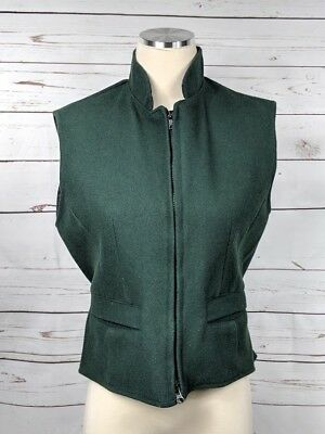 Schaefer Outfitter Women's Vest Hunter Green Wool Small Western Riding Style 905