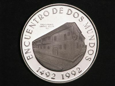COLOMBIA 1991 10000 Pesos Bogota Mint Silver Crown Proof