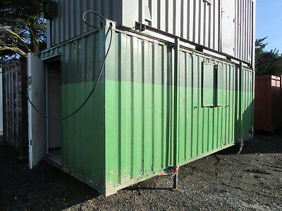 21ft x 9ft SITE OFFICE CHANGING ROOM WITH TOILETS ANTIVANDAL CABIN £825 + VAT