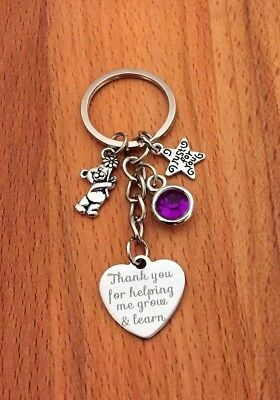 Teaching assistant Nursery teacher Childminder Nanny leaving gift keyring