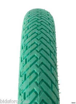 """Darxide Bmx Bike Bicycle Cycle Freestyle Tyre 20"""" * 1.95"""" - Green - Tyf2095G"""