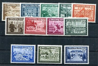 GERMANY 3rd REICH 1939 ISSUES POSTAL EMPLOYEES FUND B148-B159 (12) PERFECT MNH