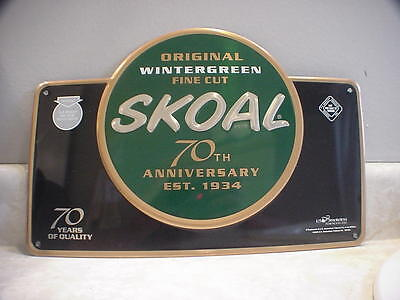 NEW SKOAL Tobacco 2003 Embossed Advertising Metal Tin Sign 70th anniversary