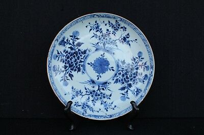 Kangxi plate with floral decoration, Chinese export ca. 1720