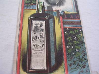 1880's Hibbard's Rheumatic Syrup w/ Picture of Bottle Jackson MI Trade Card