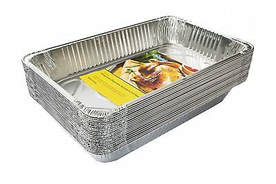 OpenBox eHomeA2Z 20 Pack Heavy Duty Full-Size Deep Disposable Aluminum Foil St