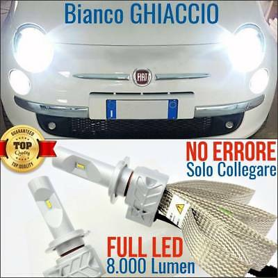 Set Lamps LED lights ICE FIAT 500, C, 500L H7 6500K CANBUS lights Abarth xenon