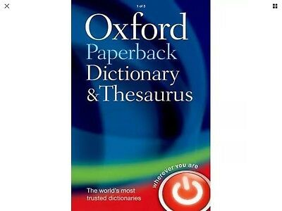 Oxford Paperback Dictionary and Thesaurus | PAPERBACK
