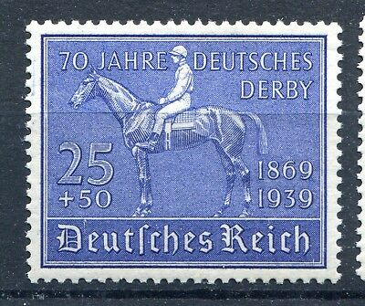 GERMANY 1939 BLUE RIBBON 75th ANNIVERSERY OF GERMAN DERBY SCOTT B144 PERFECT MNH