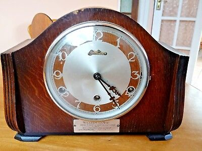 Antique Bentime Westminster Chime  Mantal Clock
