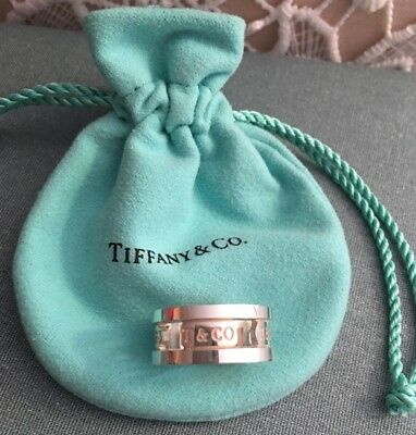 Tiffany and Co. 1837 Wide Band 925 Sterling Silver Ring Size 7.5 Mint!!!