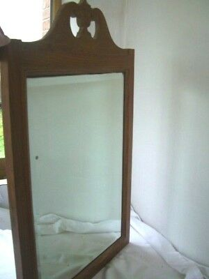 Edwardian Georgian style fretwork top,wooden framed mirror 75cms x 47cms
