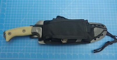 esee junglas kydex sheath with condor pouch black leather texture