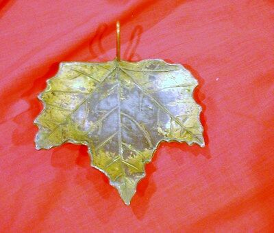 McCLELLAND BARCLAY VINTAGE METAL LEAF - CANDLE, TRINKETS  OR DECORATIVE