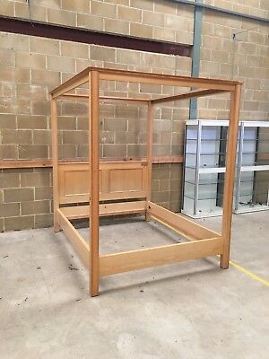 A Heals Maple King Size Four Poster Bedframe, 1980's.