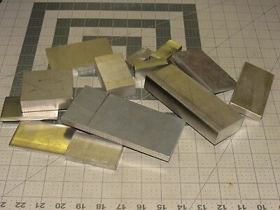 5 Lbs 9.1 Ozs 15 Pcs Scrap Aluminum Metal Clip Machine Shop Leftovers