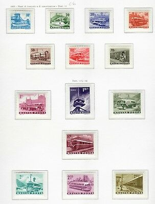 s22257) HUNGARY 1963 MNH** Transport 14v IMPERFORATED