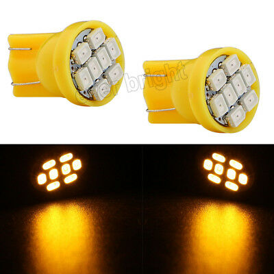 30X Amber T10 1206 8 SMD LED Light Bulbs Instrument Lamp Car Door Lamps 12V DC
