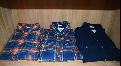 Mens Abercrombie & Fitch Flannel Shirts Size Medium Lot of 3