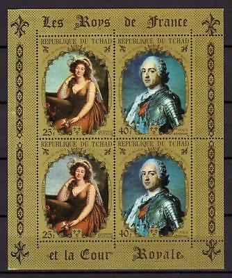 A7967) TCHAD MNH** 1971 French royalty (53-54) MS