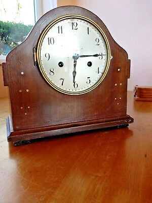 Antique Mantle Clock Complete And Working