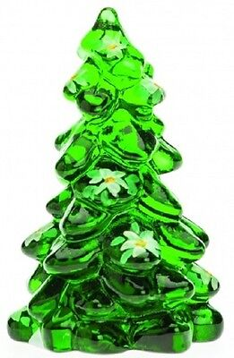 Christmas Holiday Tree - Green Handpainted Glass - Mosser USA - Small 2 3/4""