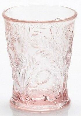 Tumbler - Inverted Thistle - Mosser USA - Rose Pink Glass