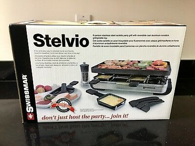 Swissmar Ticino 8 Person Stone Raclette Party Grill (KF-77081)