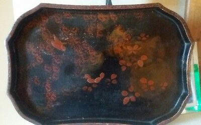 Japanese Red Lacquer Tray