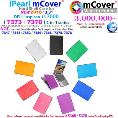 """NEW mCover Hard Case for  2018 13.3"""" Dell Inspiron 13 7370 7373 2-in-1 laptop"""