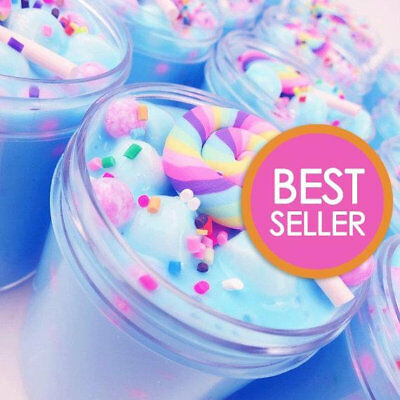 Unicorn Birthday Cake Slime (Scented) with Charm - 4, 6 & 8 oz - Made in USA