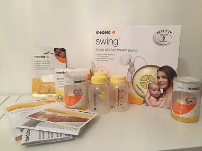 Medela Swing Single Electric Breast Pump (Phase 2) + Extras!