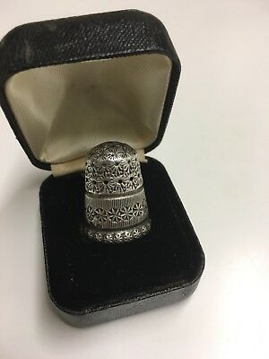 Victorian English Silver Thimble Size 7 1896 Chester Rd210800 Charles Horner