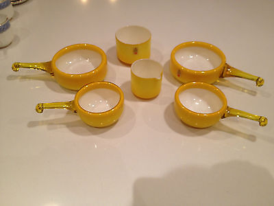 4 Herring Bowls, Sugar Bowl & Creamer,   PALET COLLECTION  HOLMEGAARD COPENHAGEN