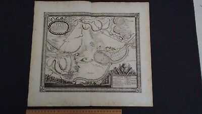 Pufendorf 1697 Plan Map Itzehoe. Germany 1657 Battle Ichnographia Oppidi Itzehoa