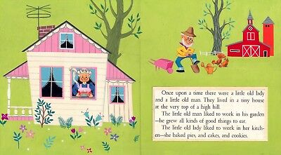 Jack & Louise Myers GINGERBREAD MAN 1958 ORIGINAL ART DOUBLE PAGE SPREAD