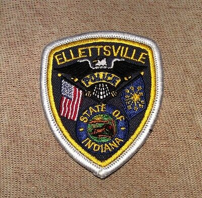 """4.5 x 5/"""" size shoulder police patch fire Indiana Lawrence  K-9"""