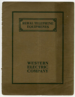 Western Electric Co-Rural Telephone Equipments-1908 Bulletin-Lines-Sets-Protectr