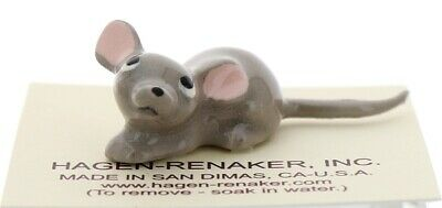 Gray Papa Mouse Ceramic Figurine Made in the USA by Hagen-Renaker