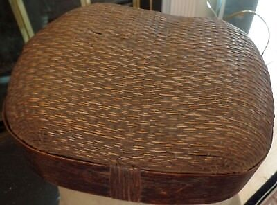 Antique Chinese Woven Rice Basket - Roomy