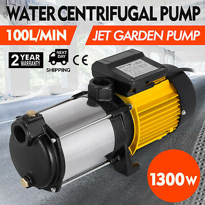 1300W centrifugal booster water Pump electric multistage Drainage Pump 100L/min