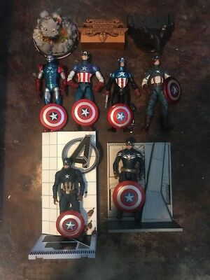 Marvel Select Captain America Lot Avengers Civil War Winter Soldier Disney Exclu