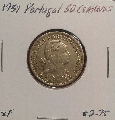 Portugal 50 Centavos, 1959, World Coin